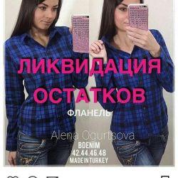 Shirt flannel 42,44,46 Turkey
