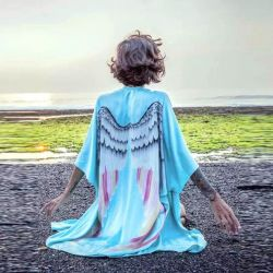New blue tunic with wings
