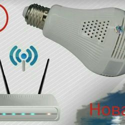 Нова IP камера-лампа WIFI відеоспостереження