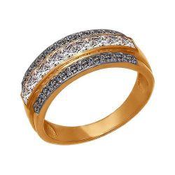 Gold ring with swarovski zirconia