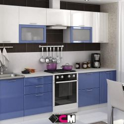 Кухня сизый/белый