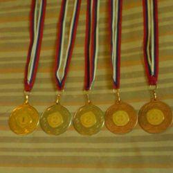 Medals sports new 5 pcs.