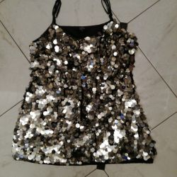 Silk Top with Paillettes new