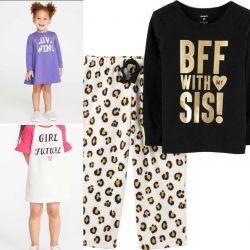 Κορίτσι 2-3 ετών πιτζάμες φόρεμα νέα Carters
