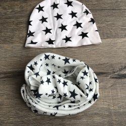 Шапочка з шарфом