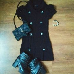 Black dress with collar