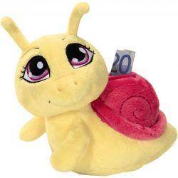 Piggy bank snail, soft toy, Germany. New