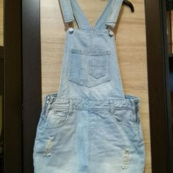 Джинсовый  Комбинезон платье юбка jeniffer