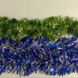 Christmas decoration: tinsel. Exchange.