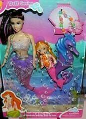Mermaid papusa lumina în cutie
