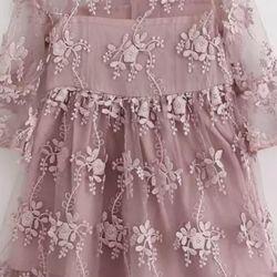 New lace stylish pink dress
