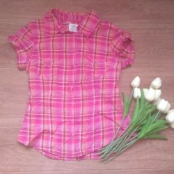Shirt with short sleeves H & M