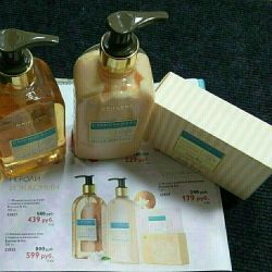 Liquid soap for hands + hand and body lotion + soap