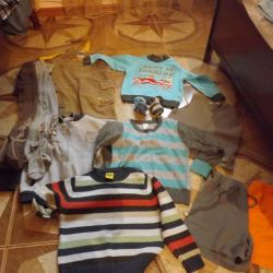 package of children's clothes, height 98