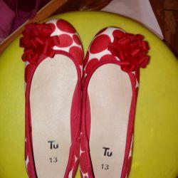 Новые туфли балетки для девочки