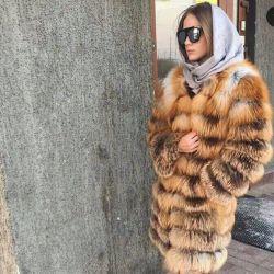 Shuba transformer 90cm of natural fox fur