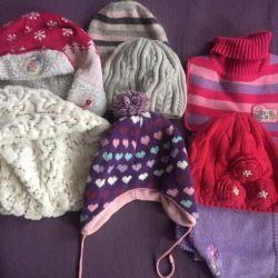 Шапки и шарфы на девочку