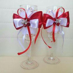 Wedding handmade glasses
