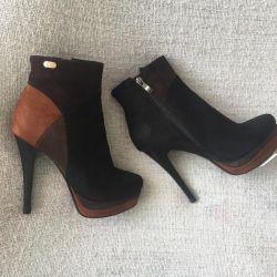Ανδρικές μπότες σουέτ r. 37
