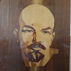 Mosaic with the image of Lenin