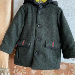 Gucci Warm Coat cu Hood 3-4 ani