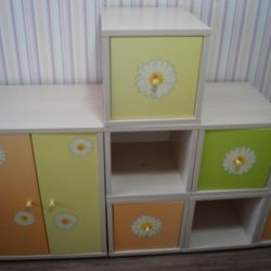 A set of children's lockers