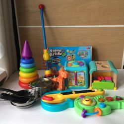 Игрушки Quaps, Fisher Price, ELC, hape