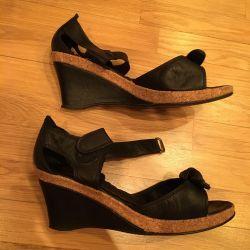 Sandals nat.kozh 39 size