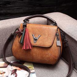 Women's crossbody bag, eco leather, brown, new