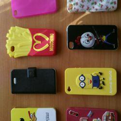 Θήκες (8 τεμ.) Για Iphone 4G / 4S