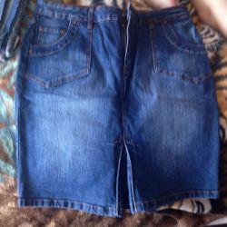 Спідниця джинсова, 48-50 розмір