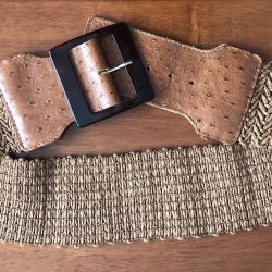 Belt leather + braid