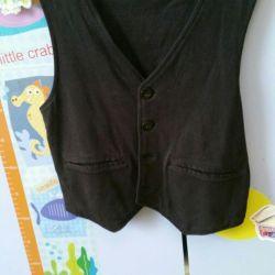 Vest black 110-116cm