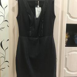 Платье со вставками из кожи Zara