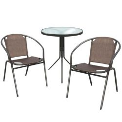 Set of furniture table and 2 armchairs