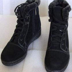 36 Winter Black Velvet Half Boots by Litfoot