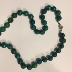 Beads from chrysocolla. 10mm
