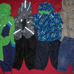 Overalls, jackets, gins, pants 80-86cm