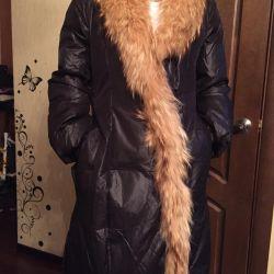 Down jacket-raincoat