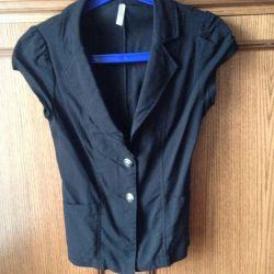 Чeрный пиджак ( жилет)