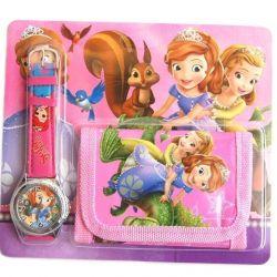 Часы для девочек кварцевые и кошелек
