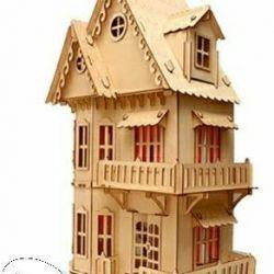 Wooden dollhouse for dolls lol