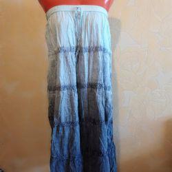 Elastic floor skirt