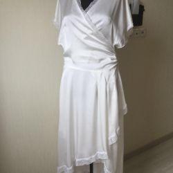 Rochie de nuntă de mătase