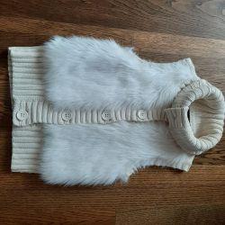 knitted fur vest (GapKids)