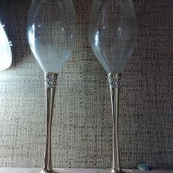 Glasses wine glasses