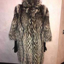 Silver Fox Fur Coat 46-48