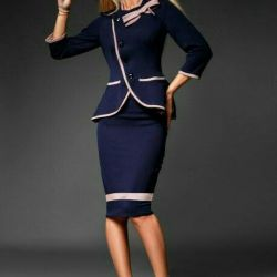 Stylish office suit with skirt