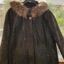 Leather jacket, suede, demi-season 56-58