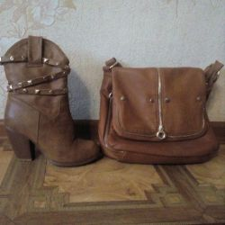 Winter boots and bag